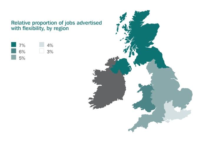 Credit - Timewise Flexible Jobs Index_flexibility by region_ map